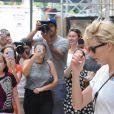 Taylor Swift quitte la salle de gym Body by Simone à New York le 9 août 2016.