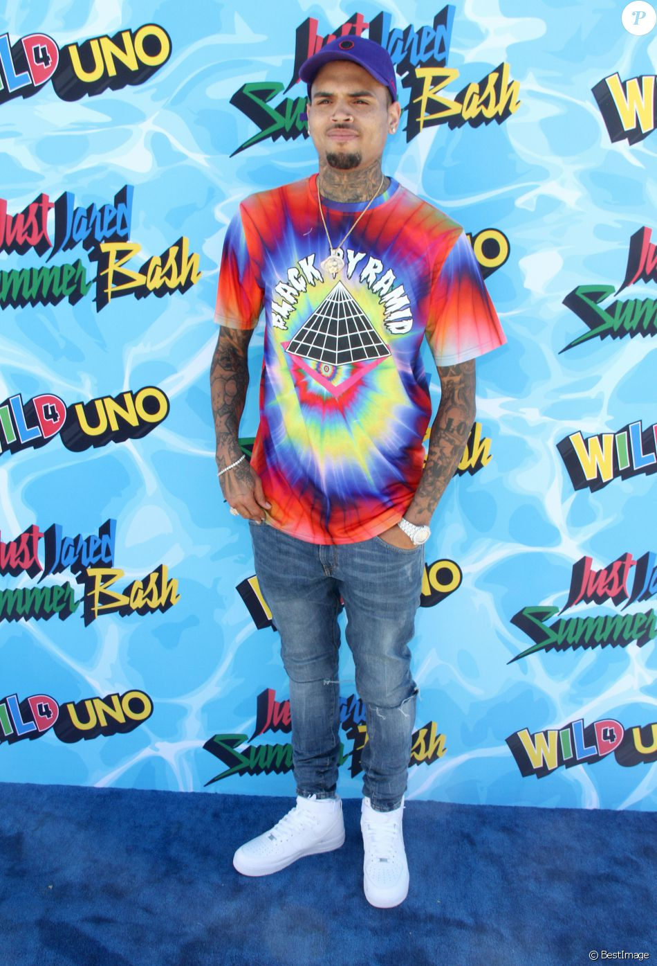 "Chris Brown - Célébrités lors de la soirée ""Just Jared Summer Bash"" à Los Angeles le 13 aout 2016."