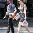 Daniel Radcliffe et sa compagne Erin Darke à New York, le 2 juillet 2015.