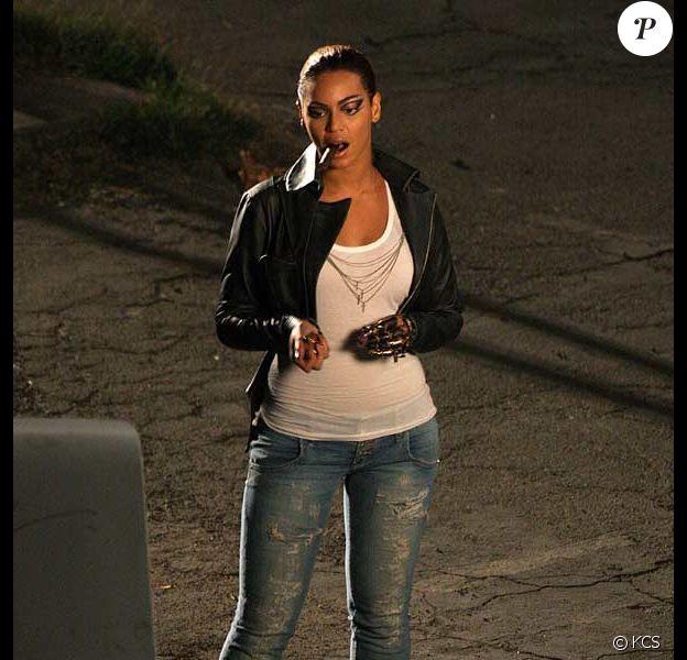 Beyoncé sur le tournage de son clip Diva