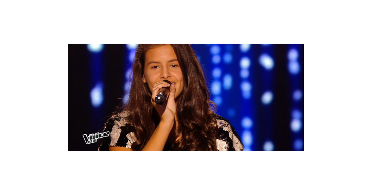 marine dans the voice kids 3 le 3 septembre 2016 sur tf1 purepeople. Black Bedroom Furniture Sets. Home Design Ideas