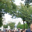 Nathalie Rykiel (fille de Sonia Rykiel) ses filles Lola, Tatiana et Salomé Burstein, son frère Jean-Philippe Rykiellors des obsèques de Sonia Rykiel au cimetière de Montparnasse à Paris, le 1er septembre 2016.