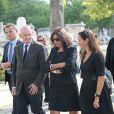 Christophe Girard, Anne Hidalgolors des Obsèques de Sonia Rykiel au cimetière de Montparnasse à Paris, le 1er septembre 2016.