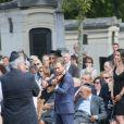 Renaud Capuçonlors des Obsèques de Sonia Rykiel au cimetière de Montparnasse à Paris, le 1er septembre 2016.