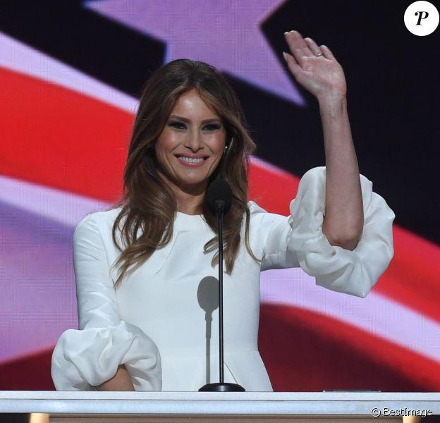 Melania lors du premier soir de la convention républicaine à Cleveland. Le 18 juillet 2016