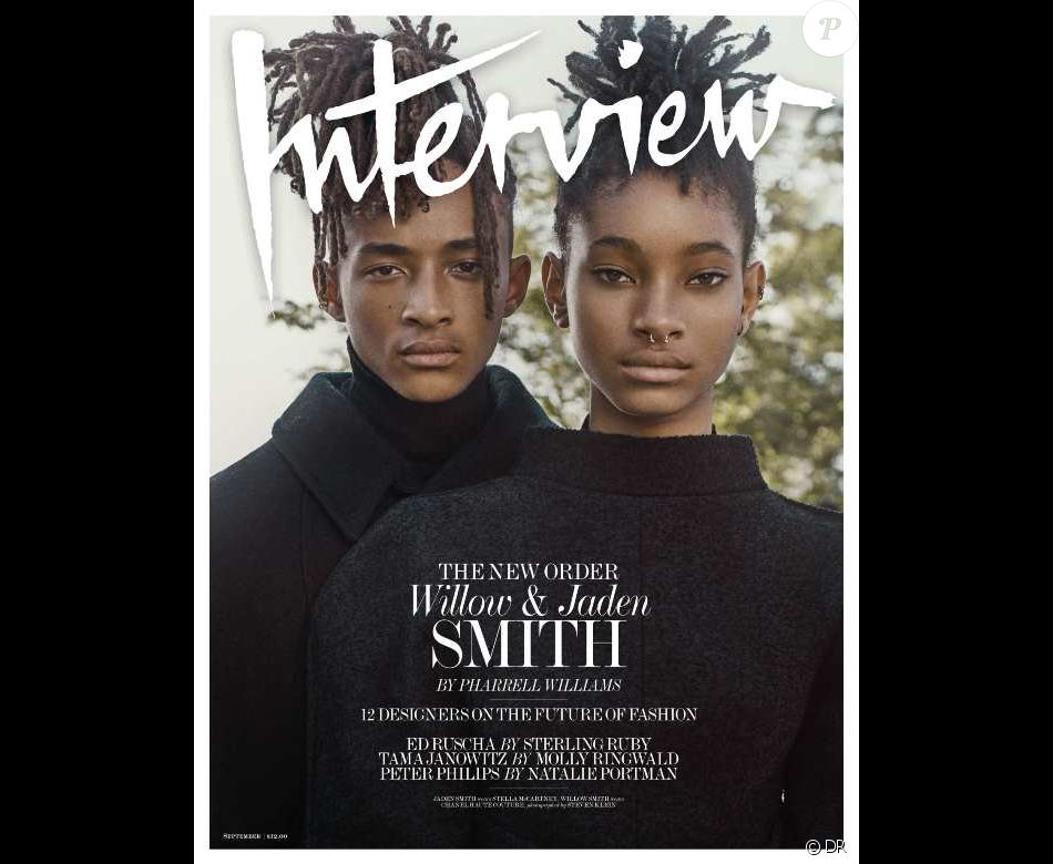 Jayden et Willow Smith en couverture du magazine Interview, au mois de septembre 2016
