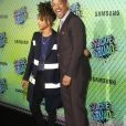 "Will Smith et son fils Jaden Smith à la Premiere du film ""Suicide Squad"" à New York le 1er aout 2016."