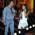 """Nikos et Jenifer réunis en juin 2016 sur TF1 pour l'émission """"La Chanson de l'Année 2016"""" © Bruno Bebert / Bestimage"""