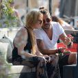 Lindsay Lohan et Dennis Papageorgiou lors de leur séjour Mykonos, le 24 août 2016