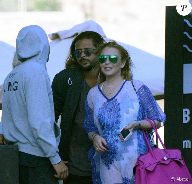Lindsay Lohan et Dennis Papageorgiou lors de leur séjour Mykonos, le 26 août 2016