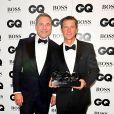 David Walliams et Bear Gryllsaux GQ Men of the Year Awards 2016 à Londres le 6 septembre.