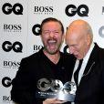 Patrick Stewart et Ricky Gervaisaux GQ Men of the Year Awards 2016 à Londres le 6 septembre.