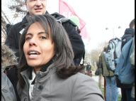 REPORTAGE PHOTOS : Audrey Pulvar, une gréviste de charme dans le froid parisien ! (réactualisé)