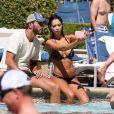 Exclusif - Nabilla Benattia et son compagnon Thomas Vergara en vacances à Las Vegas, le 7 août 2016.