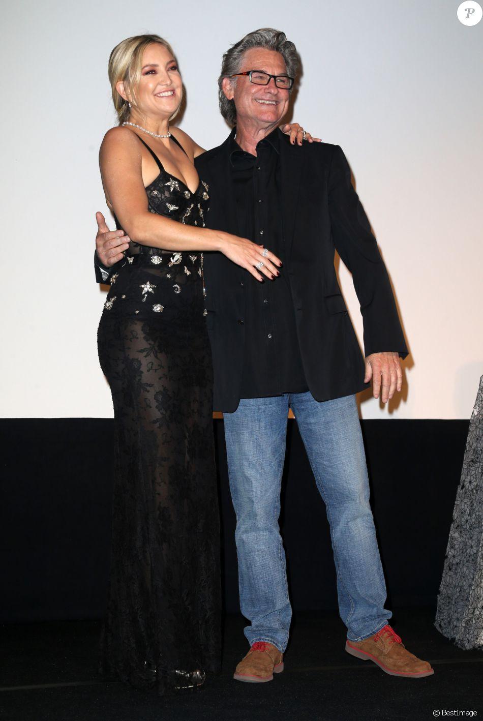 Kate Hudson avec son père Kurt Russell à la première de 'Deepwater Horizon' lors du Festival International du Film à Toronto, le 13 septembre 2016