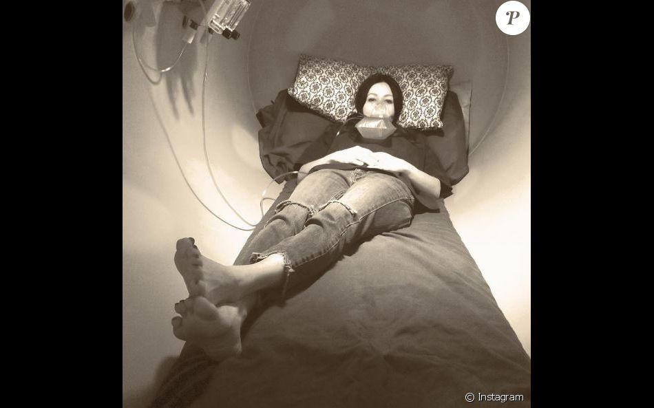 Shannen Doherty a dévoilé cette photo de son traitement contre le cancer sur Instagram, le 14 septembre 2016
