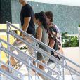 Kourtney Kardashian, Jonathan Cheban et Simon Huck à Miami, le 15 septembre 2016.