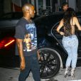 Kim Kardashian et son mari Kanye West à Miami, le 15 septembre 2016.