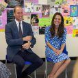Kate Middleton et le prince William lors d'une discussion au cours de leur visite à la Stewards Academy à Harlow, dans l'Essex, le 16 september 2016 pour continuer de soutenir la campagne Heads Together en faveur du bien-être mental des jeunes.