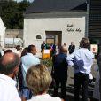 Exclusif - Famille et amis sont réunis lors de l'inauguration de l'école Sylvie Joly le 10 septembre 2016 à Dierre (Indre et Loire). © Laetitia Notarianni / Bestimage
