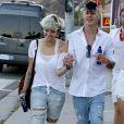 Paris Jackson et son petit ami arrivent à une fête privée au restaurant Nobu à Los Angeles, le 4 juillet 2016