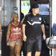 Blac Chyna enceinte est allée déjeuner avec son fiancé Rob Kardashian au restaurant Rustic Inn Crabhouse à Miami, le 13 mai 2016