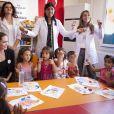 Angelina Jolie rencontre des réfugiés syriens en septembre 2012.