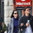 Katy Perry et Orlando Bloom se promènent en amoureux dans les rues de Aspen le 8 avril 2016