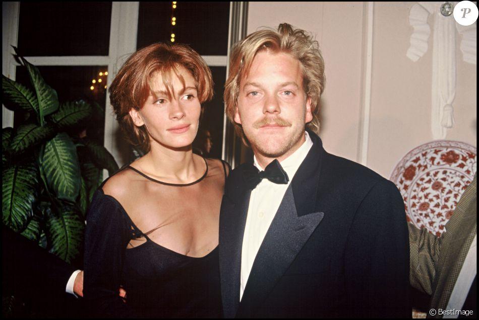 Kiefer Sutherland et Julia Roberts au Festival de Deauville en 1990