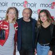 """Exclusif - Guillaume Bérard (cofondateur de Mod's Hair) entre Gabrielle Lazure et sa fille Emma - Inauguration du nouveau salon de coiffure """"Studio"""" de Mod's Hair"""" à Paris, le 26 septembre 2016. © CVS/Bestimage"""