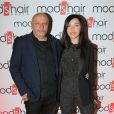 """Exclusif - Guillaume Bérard (cofondateur de Mod's Hair) et Sylvie Hoarau (du groupe Brigitte) - Inauguration du nouveau salon de coiffure """"Studio"""" de Mod's Hair"""" à Paris, le 26 septembre 2016. © CVS/Bestimage"""