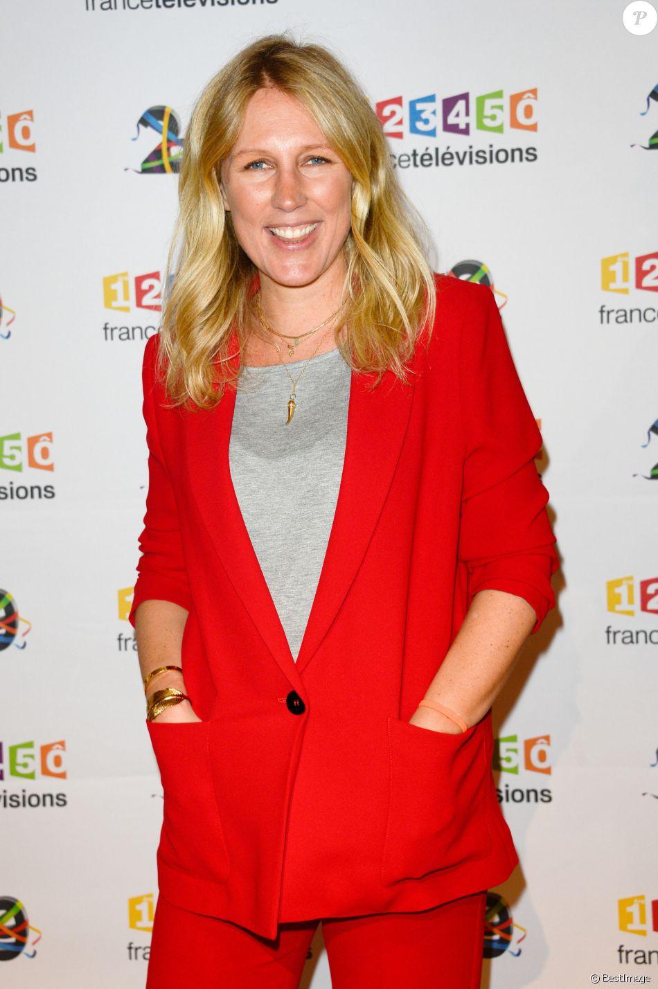 Agathe Lecaron au photocall de France Télévisions, pour la présentation de la nouvelle dynamique 2016-2017, à Paris, le 29 juin 2016. © Guirec Coadic/Bestimage