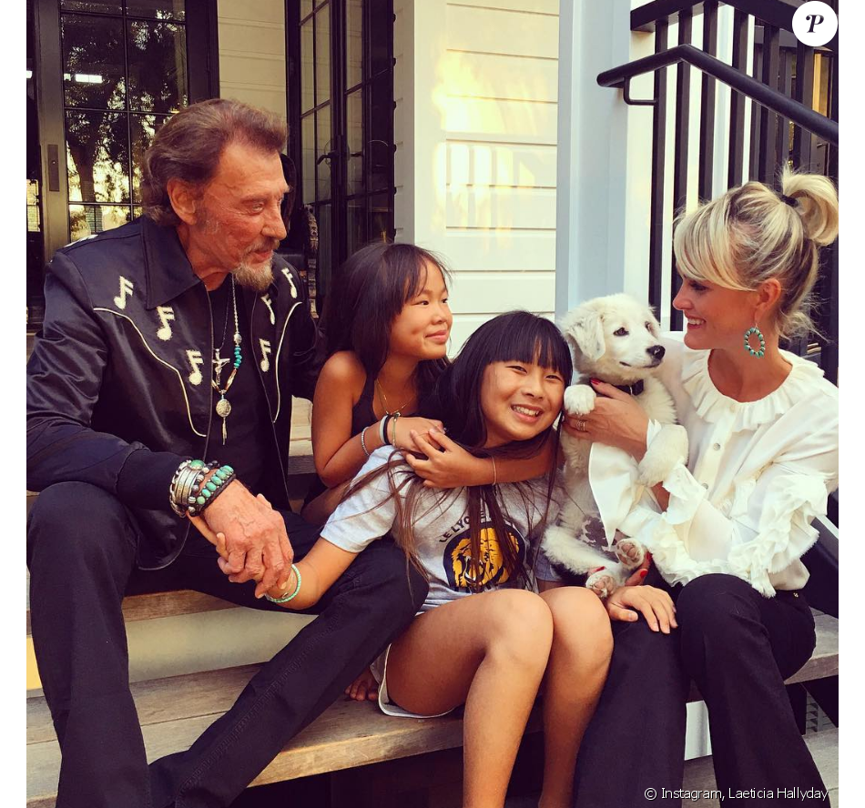 johnny hallyday et laeticia de l 39 amour en famille avec guillaume canet purepeople. Black Bedroom Furniture Sets. Home Design Ideas