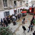 """Exclusif -Natasha St-Pier, son mari Grégory Quillacq et leur fils Bixente soutiennent l'association """"Petit Coeur de Beurre"""" lors du week-end de la Cardiopathie Congénitale à la caserne des pompiers de Malar, dans le 7e arrondissement de Paris, le 1er octobre 2016."""