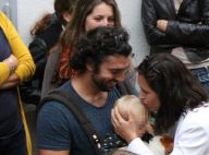 Natasha St-Pier, son chéri et leur fils Bixente : Découvertes à la caserne