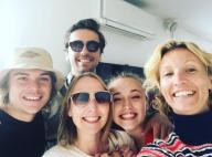 Alexandra Lamy avec sa soeur Audrey, sa fille Chloé et leurs amoureux