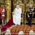 Elizabeth II et son époux le prince Philip célèbrent l'ouverture du Parlement