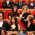 Vincent Lindon, Quentin Tarantino, Daniela Pick, Chiara Mastroianni, Catherine Deneuve et Roman Polanski lors de la remise du Prix Lumière 2016 à Catherine Deneuve durant le 8ème Festival Lumière à Lyon, le 14 octobre 2016