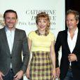 Jean-Paul Rouve, Julie Depardieu et Christopher Thompson devant le photocall de la cérémonie du Prix Lumière lors du 8ème Festival Lumière à Lyon, le 14 octobre 2016