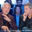 """David Ginola remercie M.Pokora de l'avoir sauvé dans l'émission de C8 """"Salut les terriens"""" le 15 octobre 2016."""
