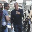 """Exclusif - Bruce Willis sur le tournage de """"Death Wish"""" à Montréal, le 12 octobre 2016."""
