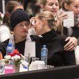 Marius Borg Hoiby, fils de la princesse Mette-Marit de Norvège, et sa compagne Linn Helena Nilsen lors du Salon du Cheval d'Oslo le 16 octobre 2016.