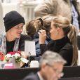 Marius Borg Hoiby, fils de la princesse Mette-Marit de Norvège, et Linn Helena Nilsen en couple lors du Salon du Cheval d'Oslo le 16 octobre 2016.