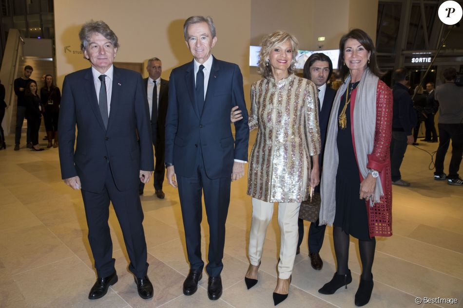 thierry breton bernard arnault et sa femme h l ne arnault. Black Bedroom Furniture Sets. Home Design Ideas