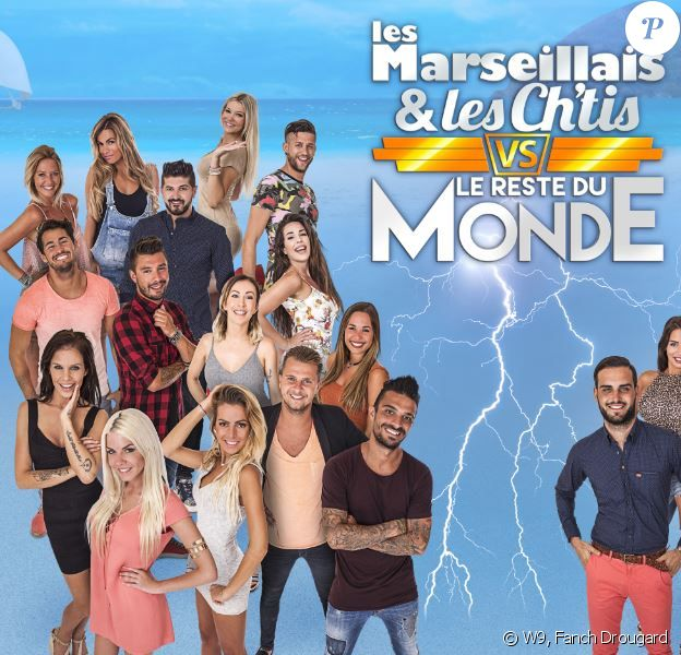"""Les candidats des """"Marseillais et les Ch'tis VS Le reste du monde"""", W9"""