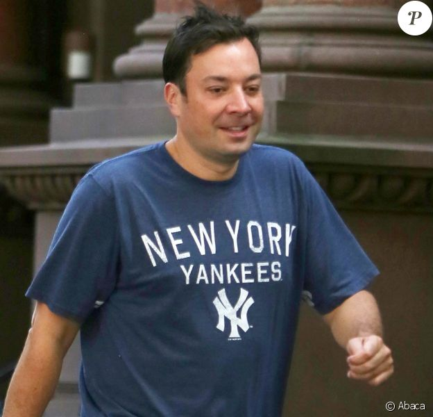 Jimmy Fallon dans les rues de New York le 28 août 2016