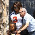 Exclusif - Blac Chyna, la compagne de Rob Kardashian, et son fils King Cairo à Los Angeles le 25 août 2016.