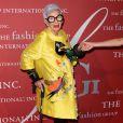Iris Apfel- 2016 Night of Stars Gala organisée par le FashionGroupInternational au Cipriani 55 Wall St. New York, le 27 octobre 2016.