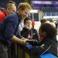Le prince Harry visite Coach Core au Centre National Ice de Londres, le 27 octobre 2016.