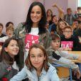 La chanteuse Alizée a assuré la dictée ELA le 17 octobre 2016, au collège de Porticcio.